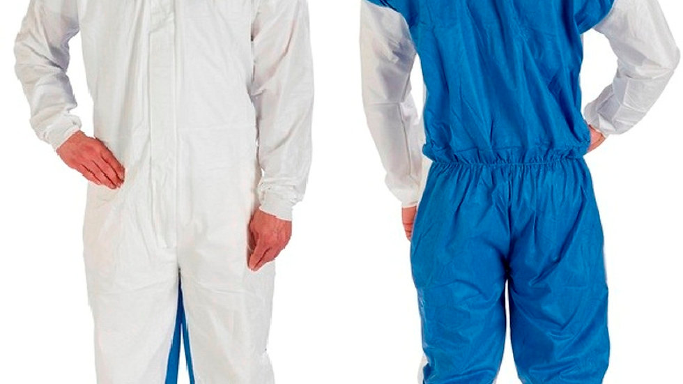 3M™ Protective Coverall 4535 White & Blue Type 5/6 Size Medium 20/case