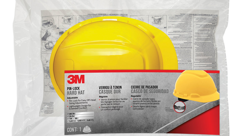 3M™ Non-Vented Hard Hat with Pinlock Adjustment, CHHYH1-12-DC, 12/case