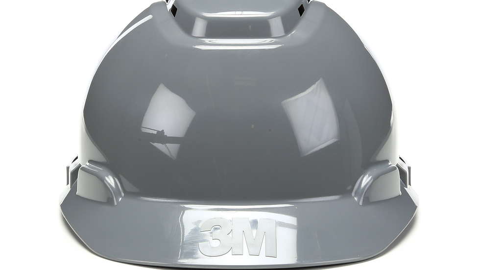 3M™ Hard Hat H-708V, Gray, 4-Point Ratchet Suspension, Vented 20 EA/Case