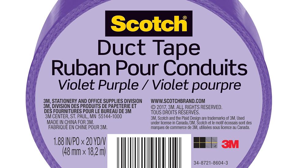 Scotch® Duct Tape 920-PPL-C, 1.88 in x 20 yd (48 mm x 18,2 m), Purple