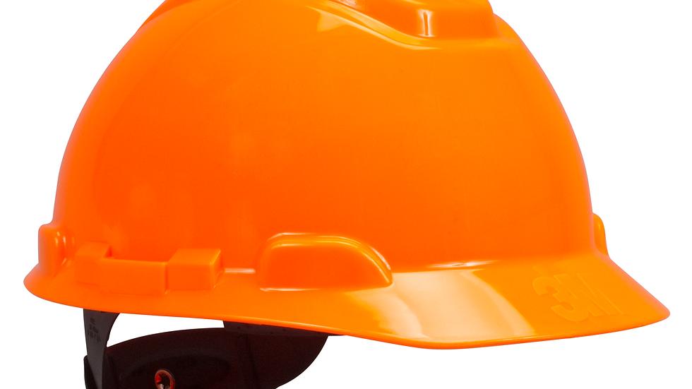 3M™ Hard Hat H-707R, Hi-Vis Orange, 4-Point Ratchet Suspension, 20 EA/Case