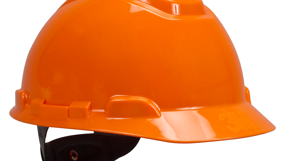 3M™ Hard Hat H-706R, Orange 4-Point Ratchet Suspension, 20 EA/Case