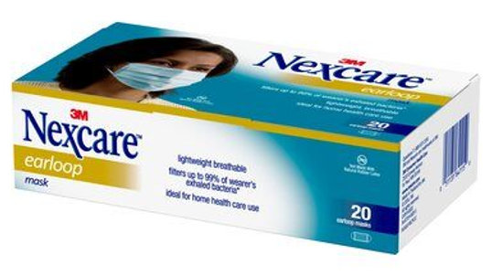 Nexcare™ Earloop Mask, H1820, 20 ct.