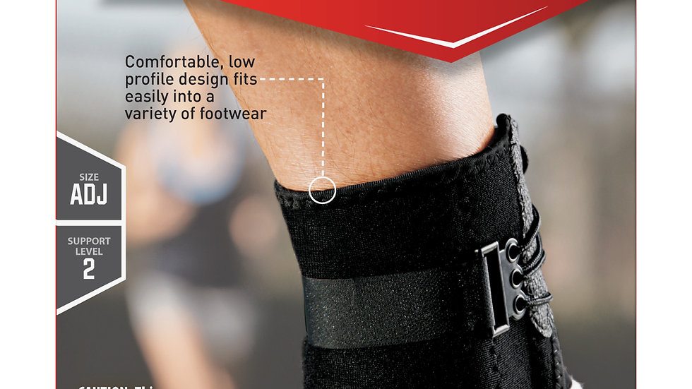 ACE™ Ankle Brace with Side Stabilizers 207266, One Size Adjustable