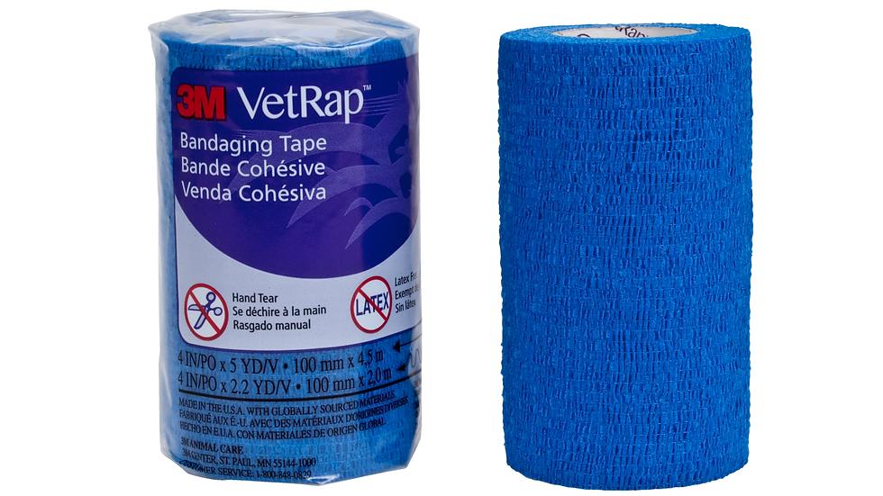 3M™ VetRap™ Bandaging Tape 1410B-BK-LFHT, 4 in x 5 yd (100 mm x 4,5 m)