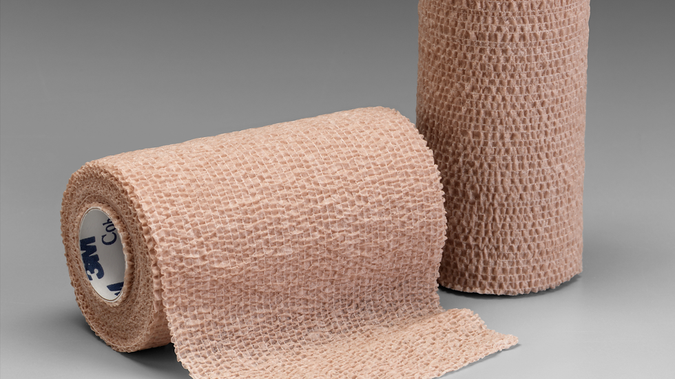 3M™ Coban™ Self-Adherent Wrap 1584L, 4 Inch x 5 Yards, 18 Bags/Case