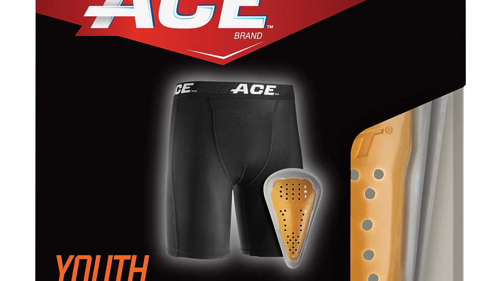 ACE™ Compression Shorts and Cup, 908004, YOUTH S/M