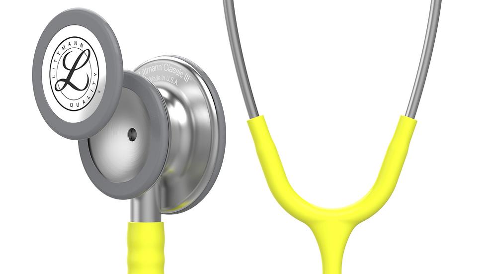 3M™ Littmann® Classic III™ Monitoring Stethoscope, Lemon-Lime Tube 27 inch 5839