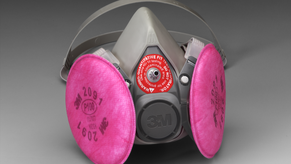 3M™ Probed Reusable Respirator Assembly 6200Q Medium 4 EA/Case