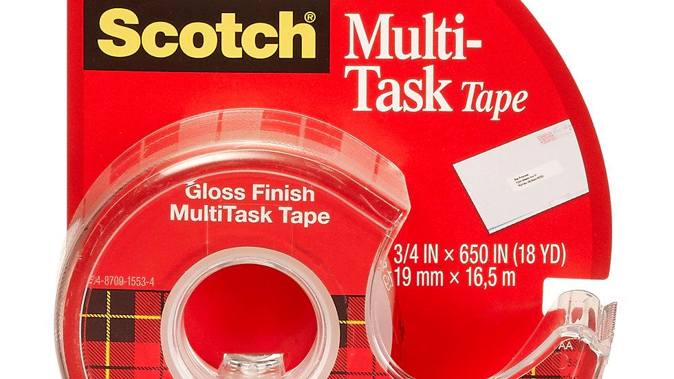 Scotch® MultiTask Tape 25, 3/4 in x 650 in (19 mm x 16.5 m)