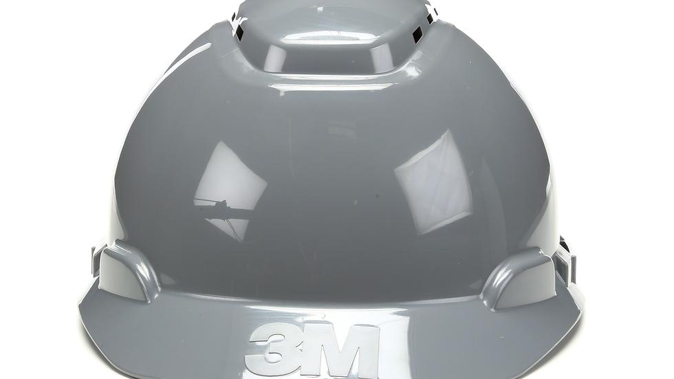 3M™ Hard Hat H-708V-UV, Gray, 4-Point Ratchet Suspension, Vented