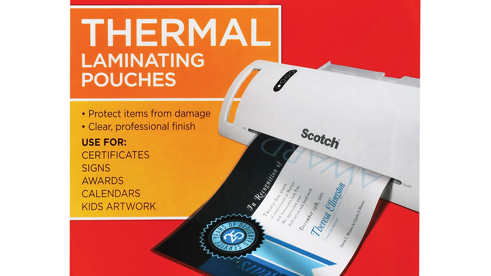 Scotch™ Thermal Pouches TP3854-50 Letter size