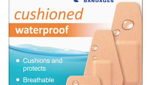 Nexcare™ Cushioned Waterproof Bandages, 527-20CB, Assorted 20ct