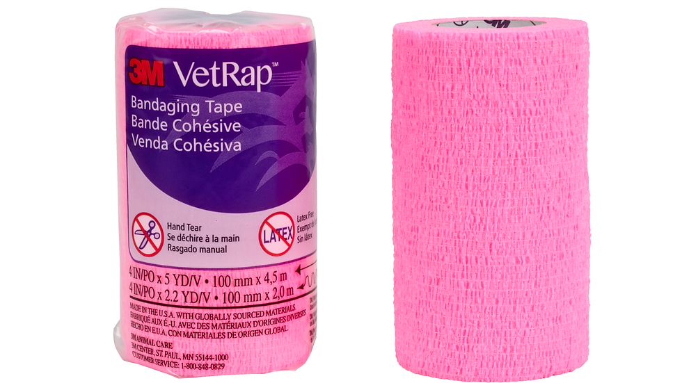 3M™ VetRap™ Bandaging Tape 1410HP-LFHT, 4 in x 5 yd (100 mm x 4,5 m)