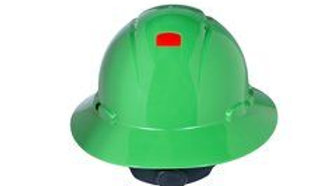 3M™ Full Brim Hard Hat H-804V-UV, Green 4-Point Ratchet Suspension,