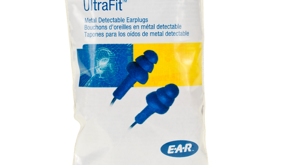 3M™ E-A-R™ UltraFit™ Earplugs VP340-4007, Metal Detectable, Corded,