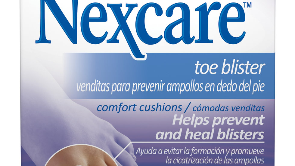 Nexcare™ Toe Blister Comfort Cushions CCT-05, 2 3/4 x 1 (7 cm x 2,54 cm)