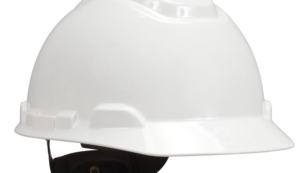 3M™ Hard Hat, White 4-Point Ratchet Suspension H-701R, 20 EA/Case