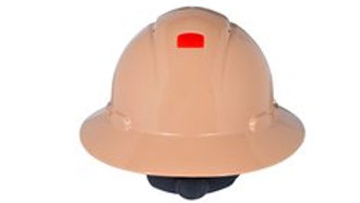 3M™ Full Brim Hard Hat H-811V-UV, Tan 4-Point Ratchet Suspension, Vented