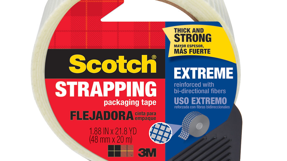 Scotch® Strapping Tape 8959-RD 1.88 in x 21.8 yd (48mm x 20m) Extreme Shipping