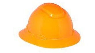 3M™ Full Brim Hard Hat H-806R, Orange 4-Point Ratchet Suspension, 20 EA/Case