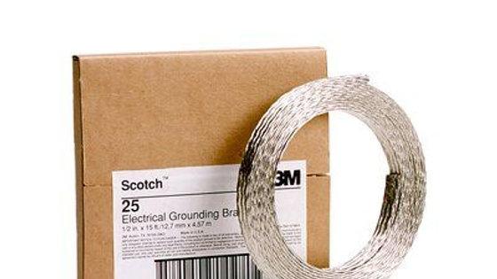 Scotch® Grounding Braid 25, 1/2 in x 15 ft
