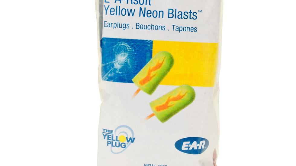 3M™ E-A-Rsoft™ Yellow Neon Blasts™ Earplugs VP311-1252, Corded, Vending Pack