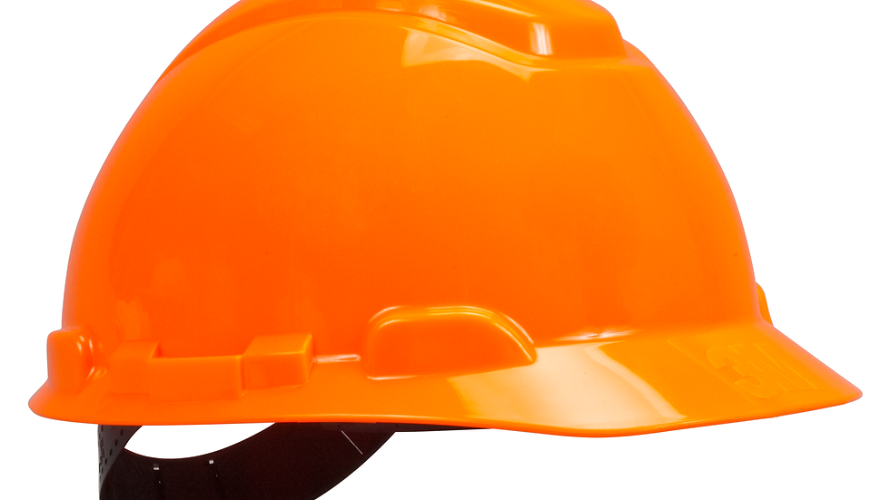3M™ Hard Hat H-707P, Hi-Vis Orange, 4-Point Pinlock Suspension, 20