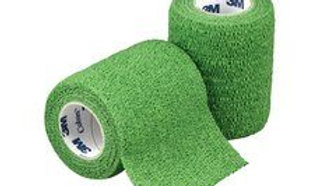 3M™ Coban™ Self-Adherent Wrap 1583G, Green, 3 Inches x 5 Yards, 24 Bags/Case