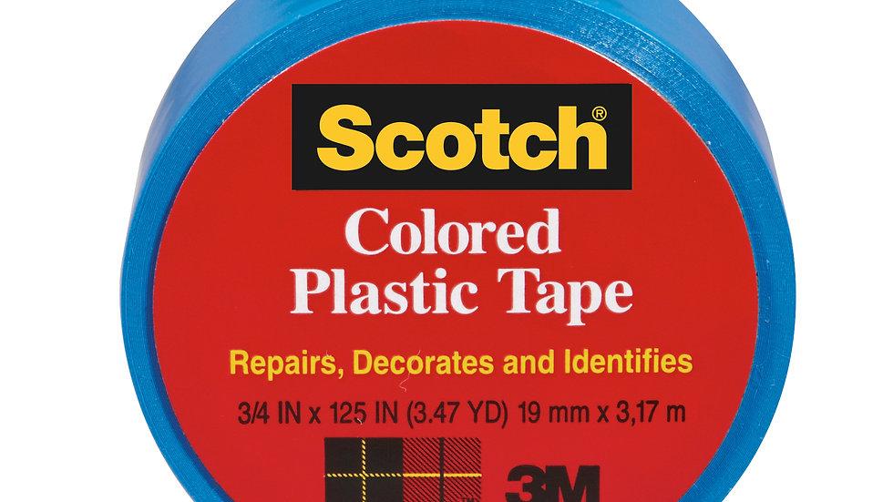 Scotch® Colored Plastic Tape 191BL, 1.5 in x 125 in (38,1 mm x 3,17 m)