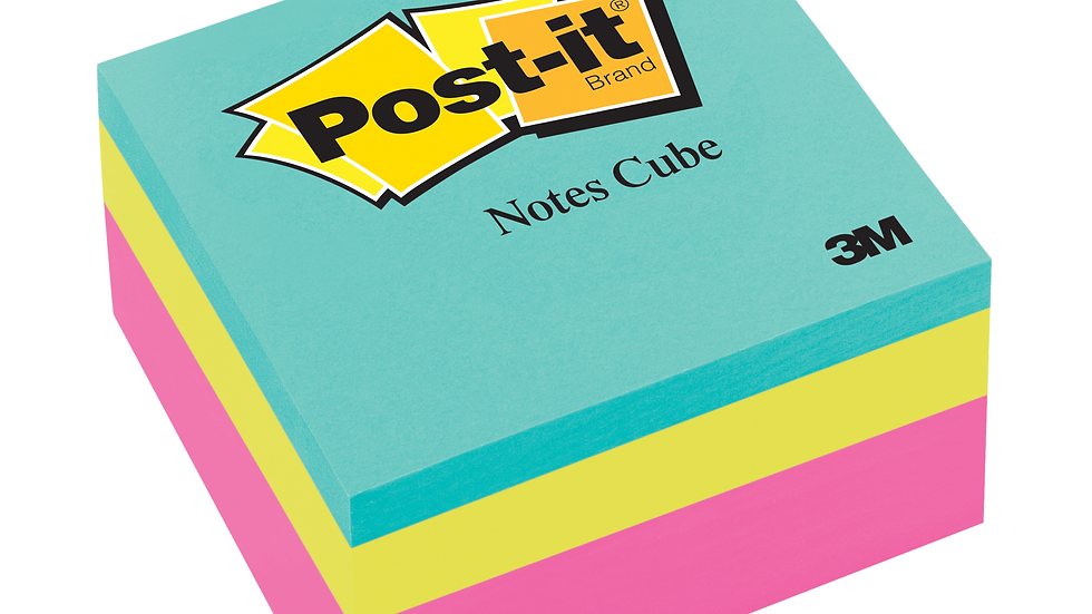 Post-it® Notes Cube 2027-RCR 3 in x 3 in, Pink Wave