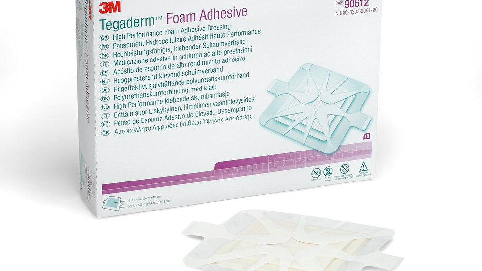 3M™ Tegaderm™ High Performance Foam Adhesive Dressing 90612, Square