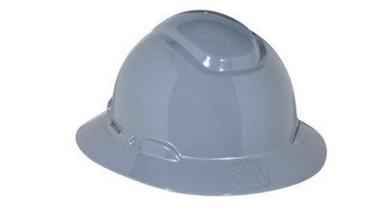 3M™ Full Brim Hard Hat H-808R, Gray 4-Point Ratchet Suspension, 20 EA/Case