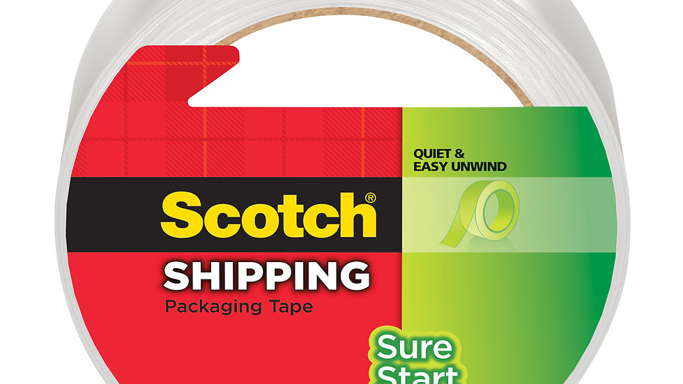 Scotch Sure Start Shipping Packaging Tape 3450 1.88 in x 54.6 yd (48 mm x 50 m)