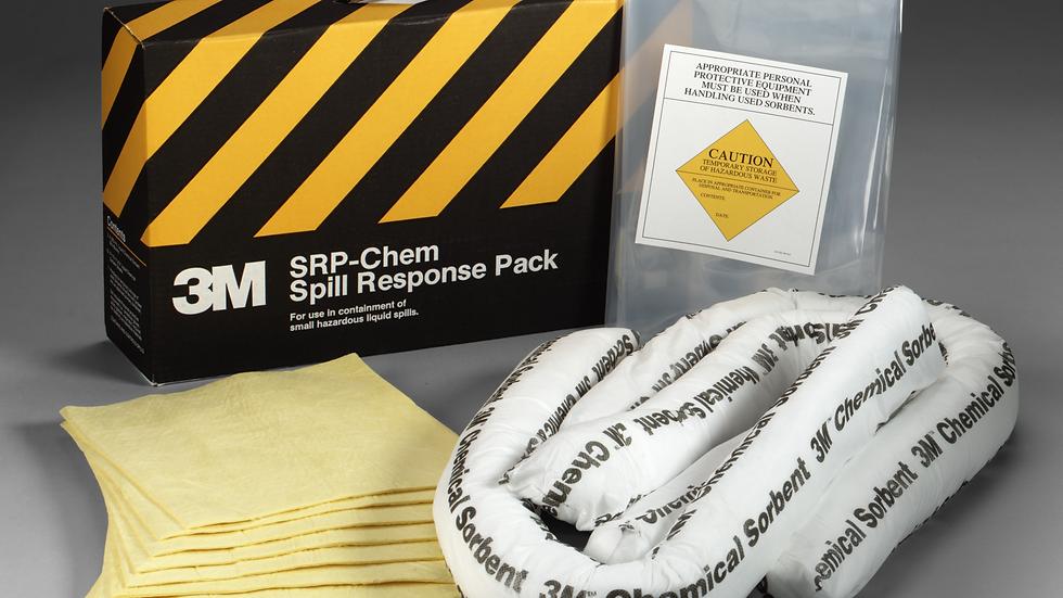 3M™ Chemical Sorbent Spill Response Pack SRP-CHEM, 3 Pack/Case