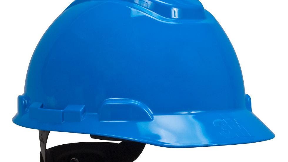 3M™ Hard Hat with Uvicator H-703R-UV, Blue, 4-Point Ratchet Suspension