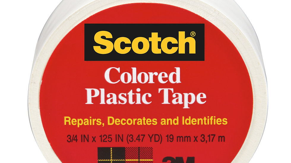 Scotch® Colored Plastic Tape 190WT, 3/4 in x 125 in (19 mm x 3,17 m)