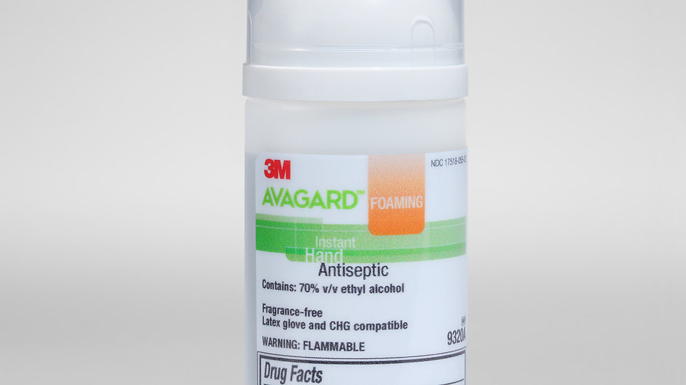 3M™ Avagard Foaming Instant Hand Antiseptic (70% v/v ethyl alcohol) 9320A 50 mL