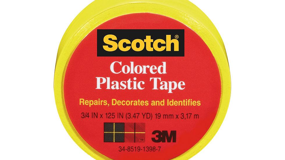 Scotch® Colored Plastic Tape 190YL, 3/4 in x 125 in (19 mm x 3,17 m)