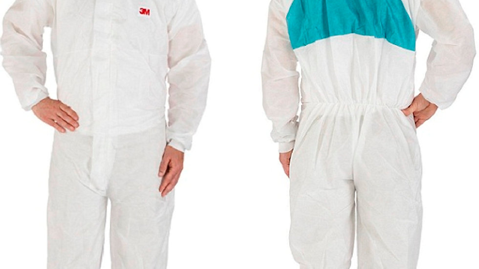 3M™ Disposable Protective Coverall 4520-L White/Green Type 5/6, 20