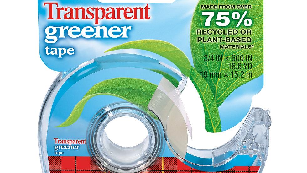 Scotch® Transparent Greener Tape 39, 3/4 in x 600 in (19 mm x 15,2 m)