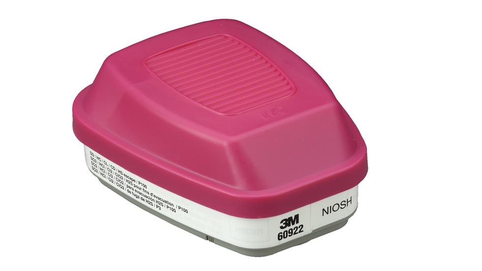 3M™ Acid Gas Cartridge/Filter 60922, P100 60 EA/Case