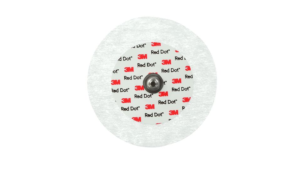 3M™ Red Dot™ ECG Monitoring Electrodes, with 3M Micropore Tape Backing, 2249-50