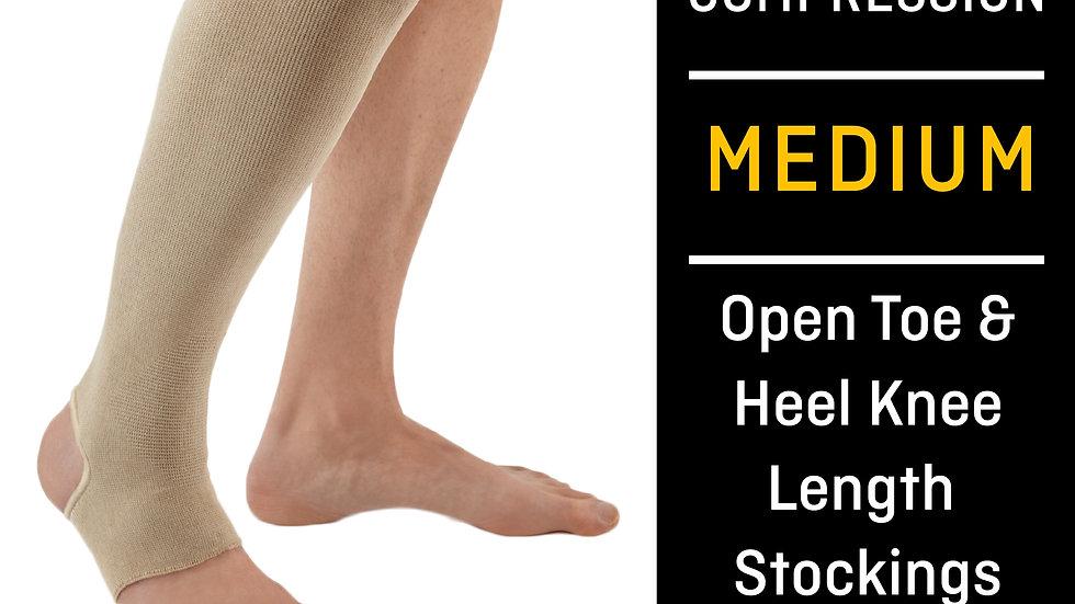 FUTURO™ Open Toe/Open Heel Knee Length Stockings, 71033OTHEN, Medium, Beige