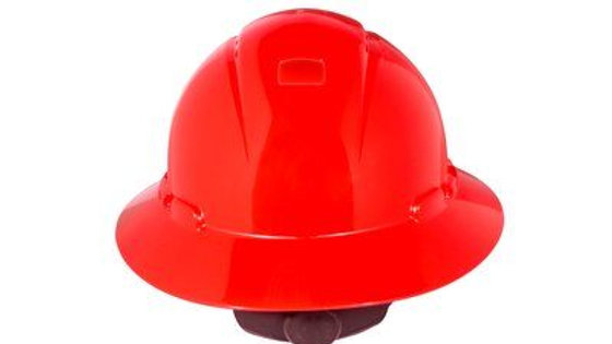 3M™ Full Brim Hard Hat H-805V-UV, Red 4-Point Ratchet Suspension