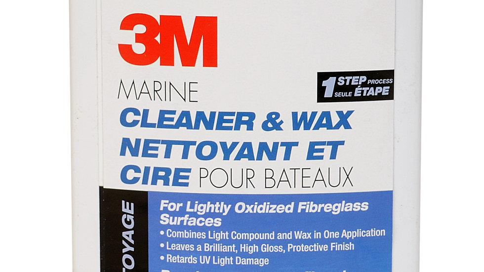 3M™ Marine One Step Cleaner and Liquid Wax 09010E, 32 oz, 6 per case