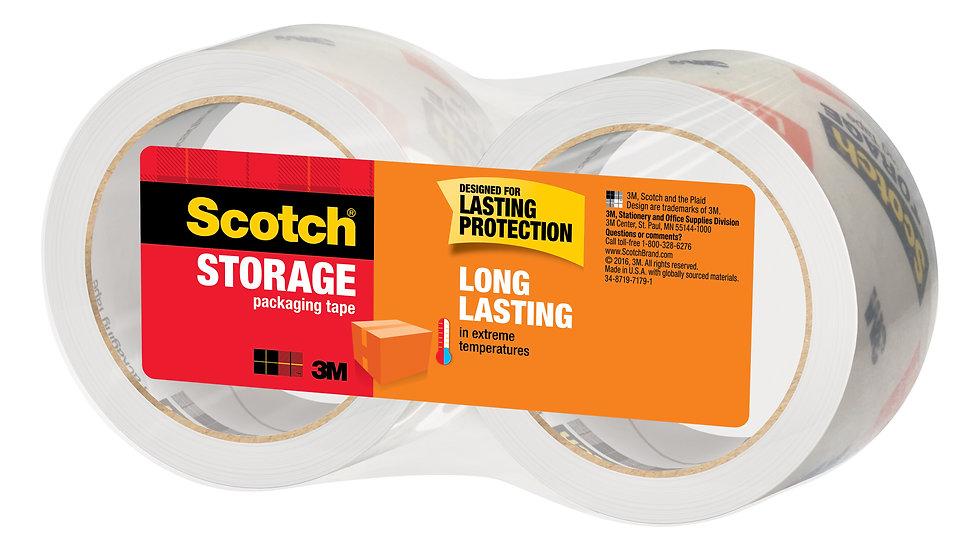 Scotch® Storage Packaging Tape 3650-2, 1.88 in x 54.6 yd (48 mm x 50 m)