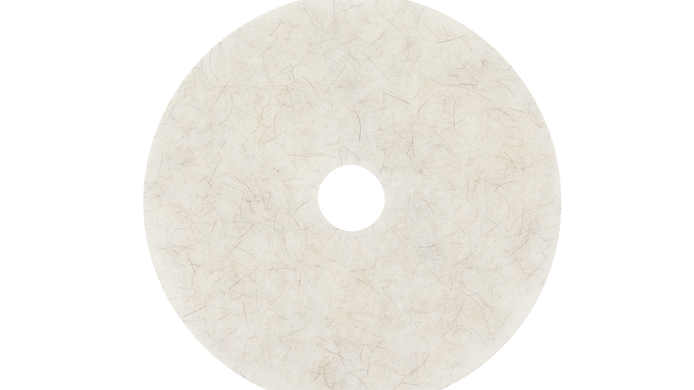 3M™ Natural Blend White Pad 3300, 17 in, 5/Case