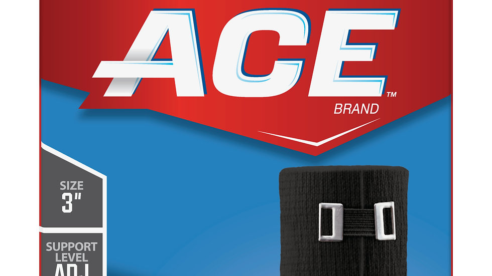 ACE™ Elastic Bandage, 207333, 3 in x 63.6 in (1.7 yds) (7.6 cm x 1.6 m)