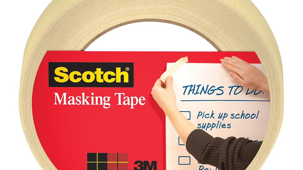 Scotch® Masking Tape 3437, .94 in x 54.6 yd (24 mm x 50 m), 1 pack